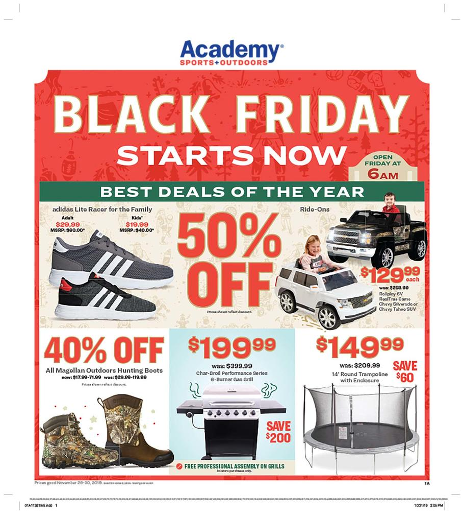 Academy Sports + Outdoors Black Friday Ad Scan 2019