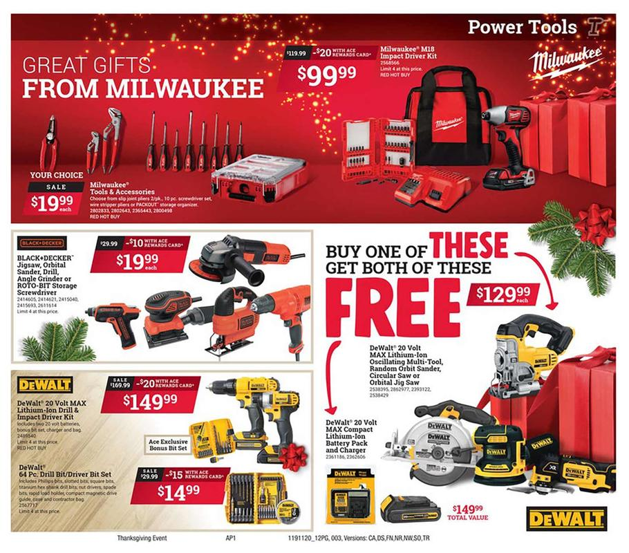 Ace Hardware Black Friday Ad Scan 2019