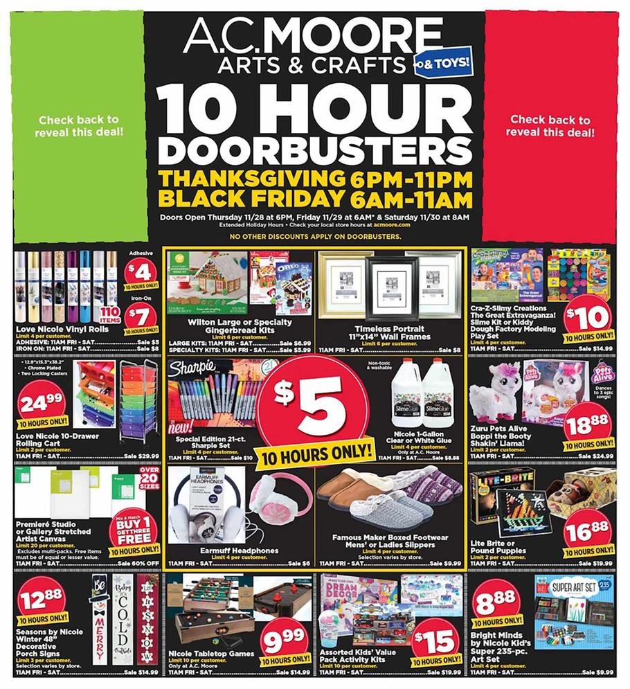 A.C. Moore Black Friday Ad Scan 2019