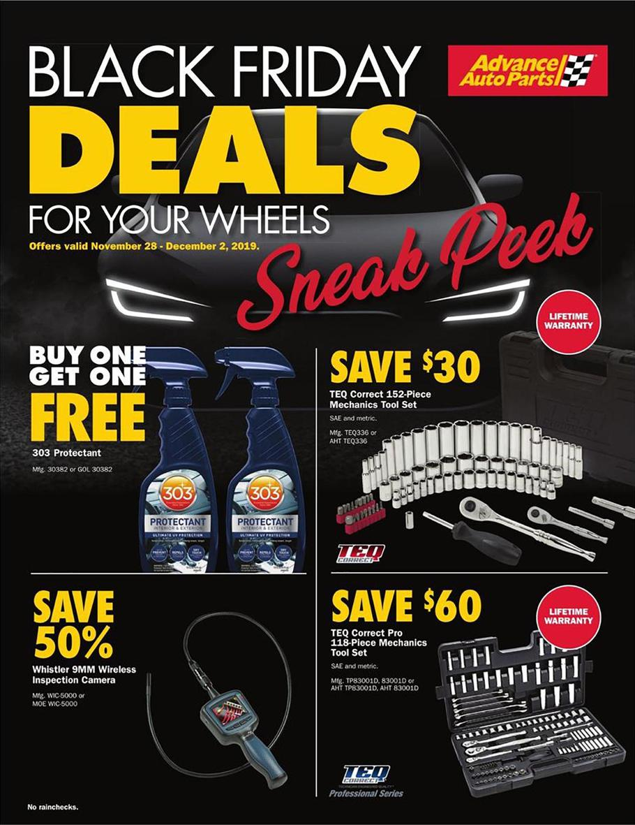 Advance Auto Parts Black Friday Ad Scan 2019