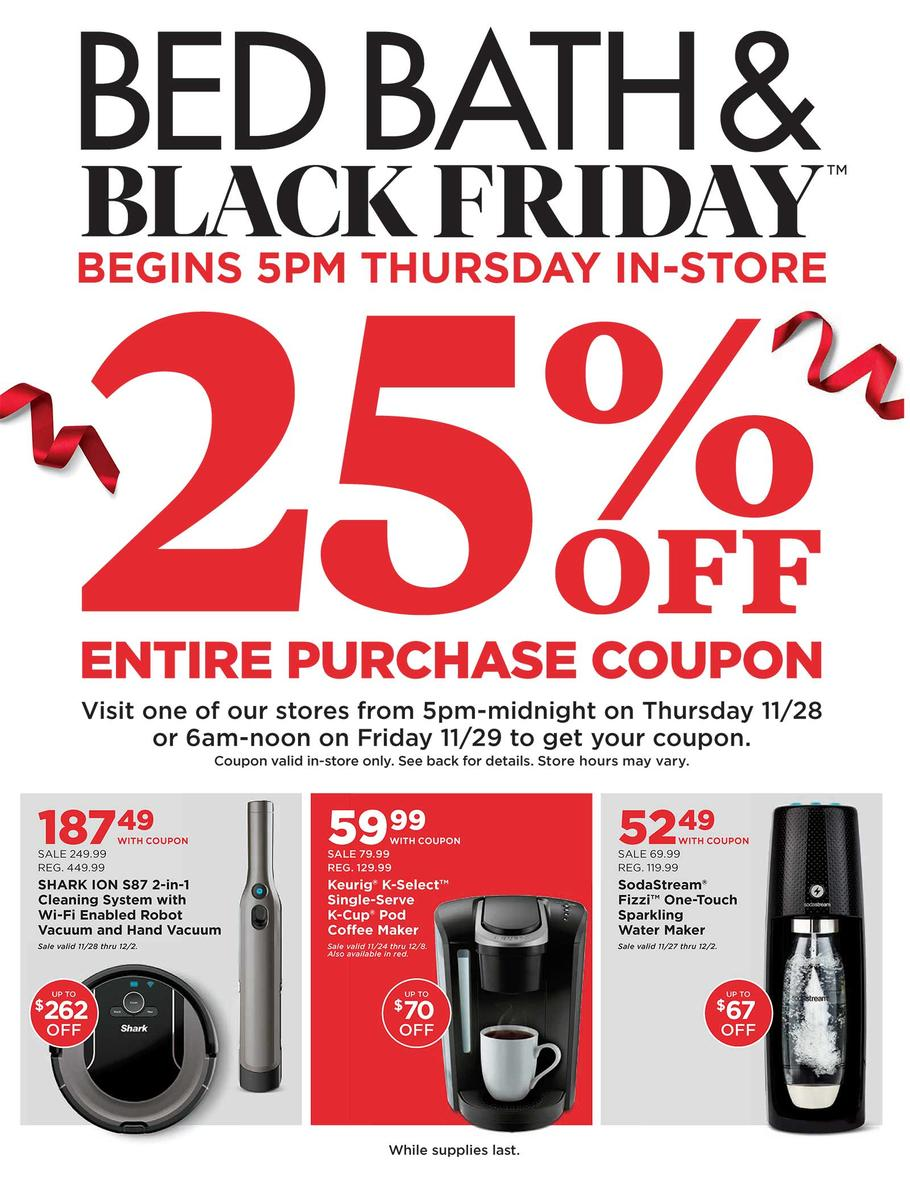 Bed Bath and Beyond Black Friday Ad Scan 2019