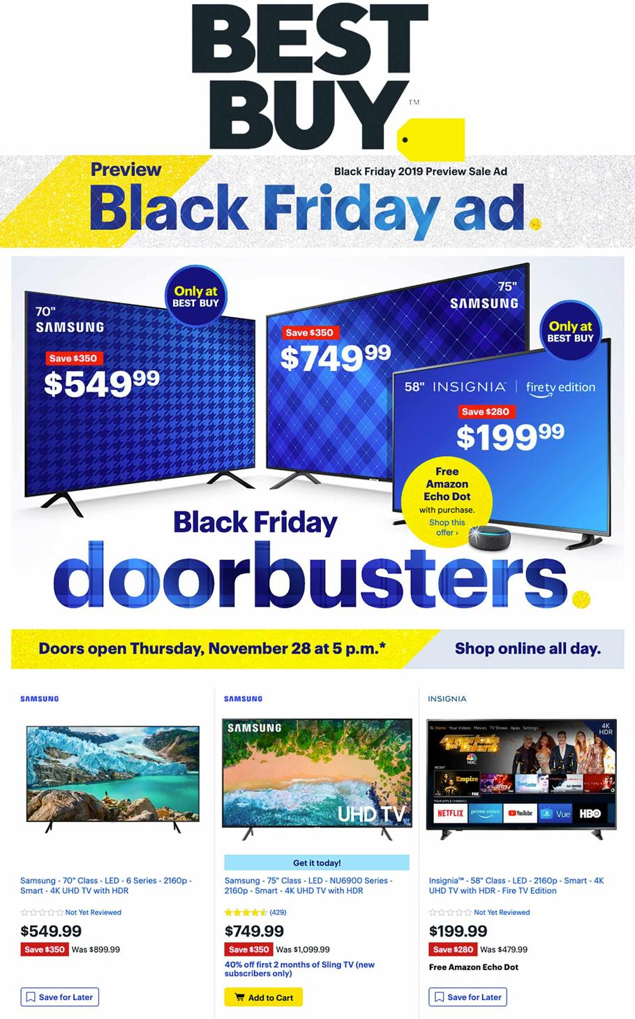 BestBuy Black Friday Ad Scan 2019