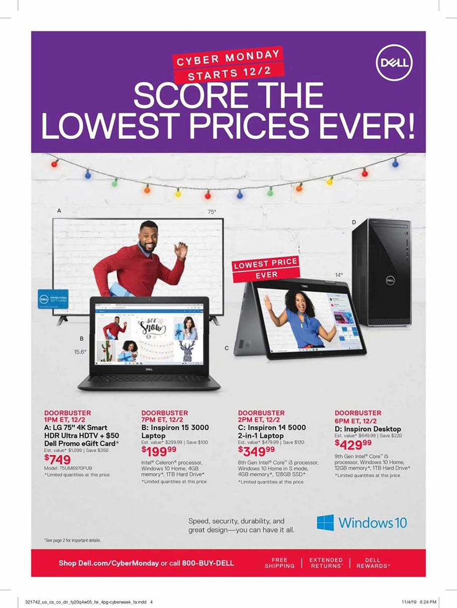 Dell Home & Home Office Cyber Monday Ad Scan 2019