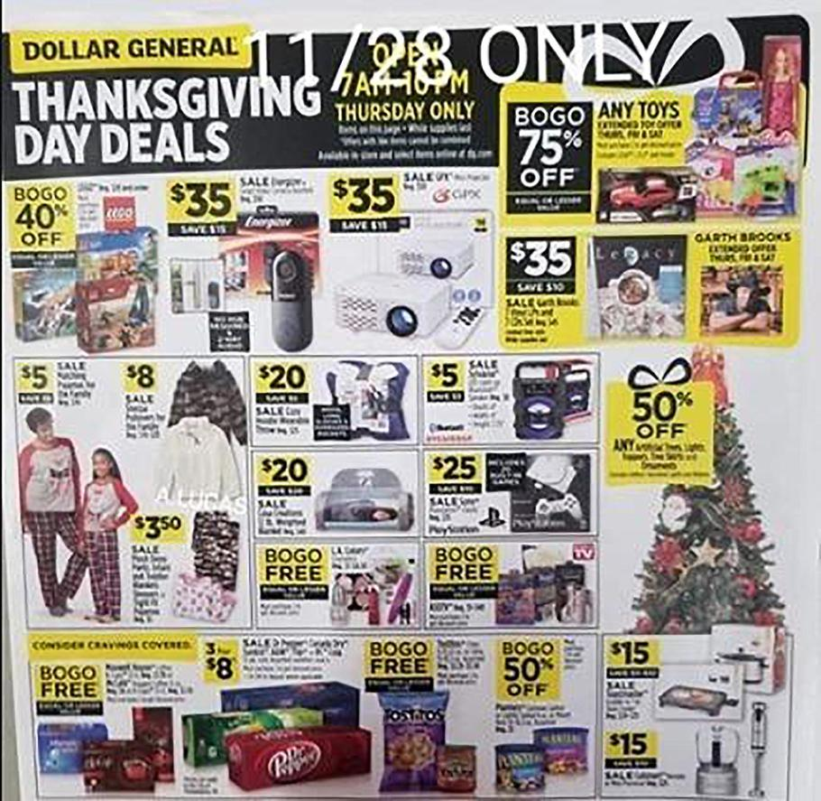 Dollar General Black Friday Ad Scan 2019