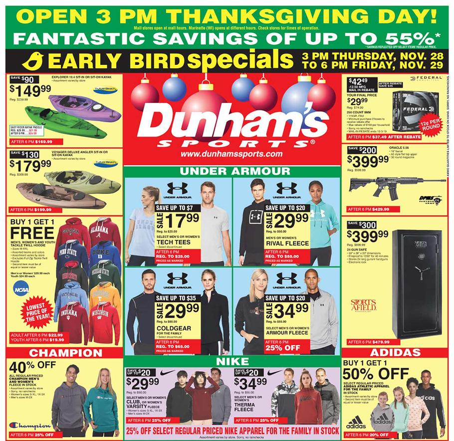 Dunham's Sports Black Friday Ad Scan 2019