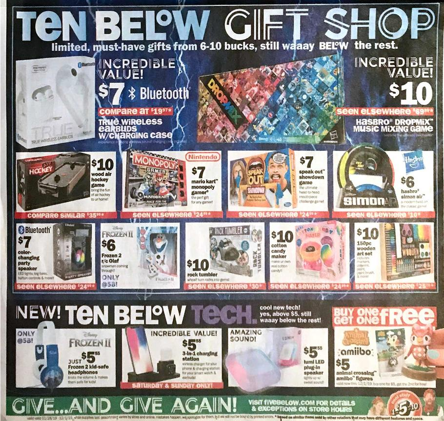 Five Below Black Friday Ad Scan 2019