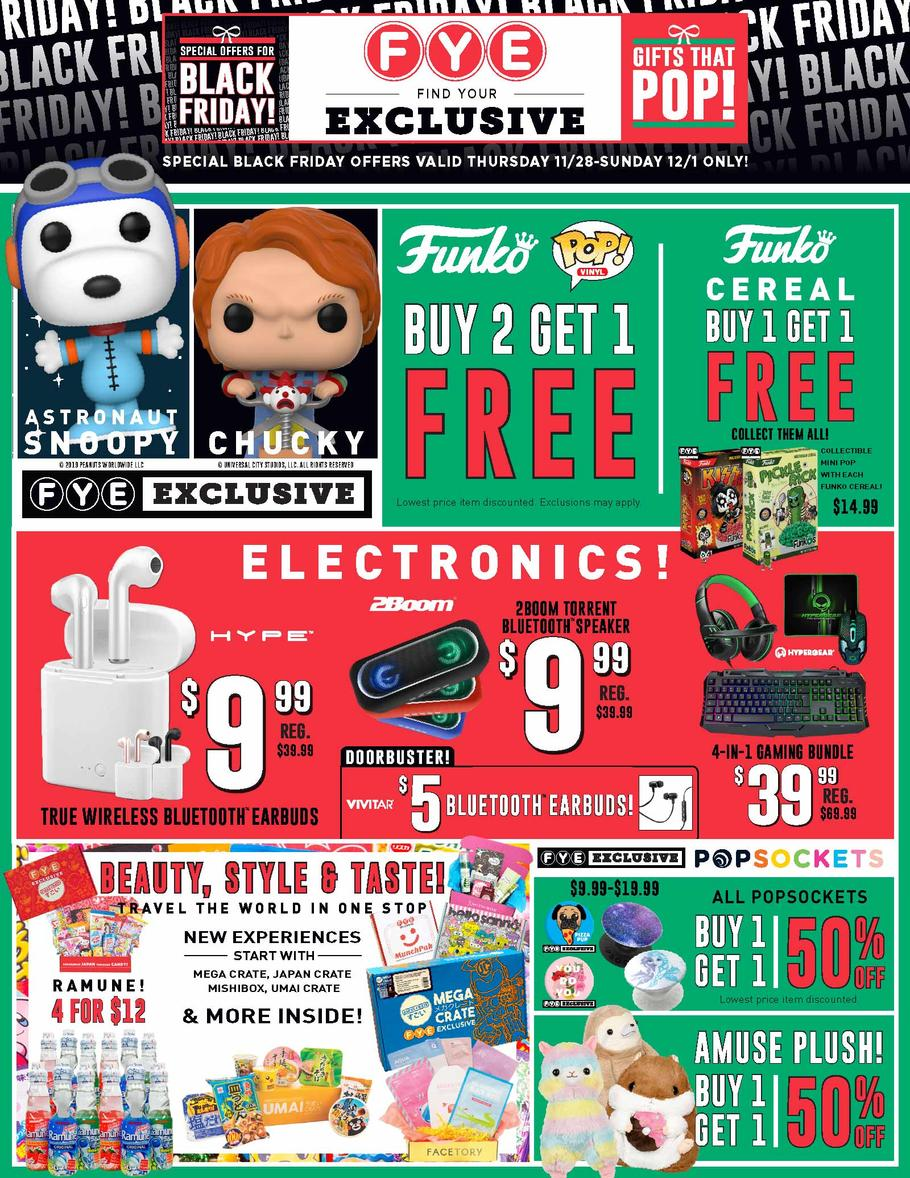 FYE Black Friday Ad Scan 2019