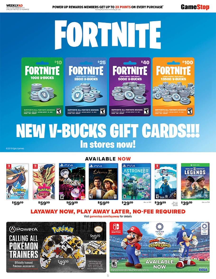 GameStop Cyber Monday Ad Scan 2019