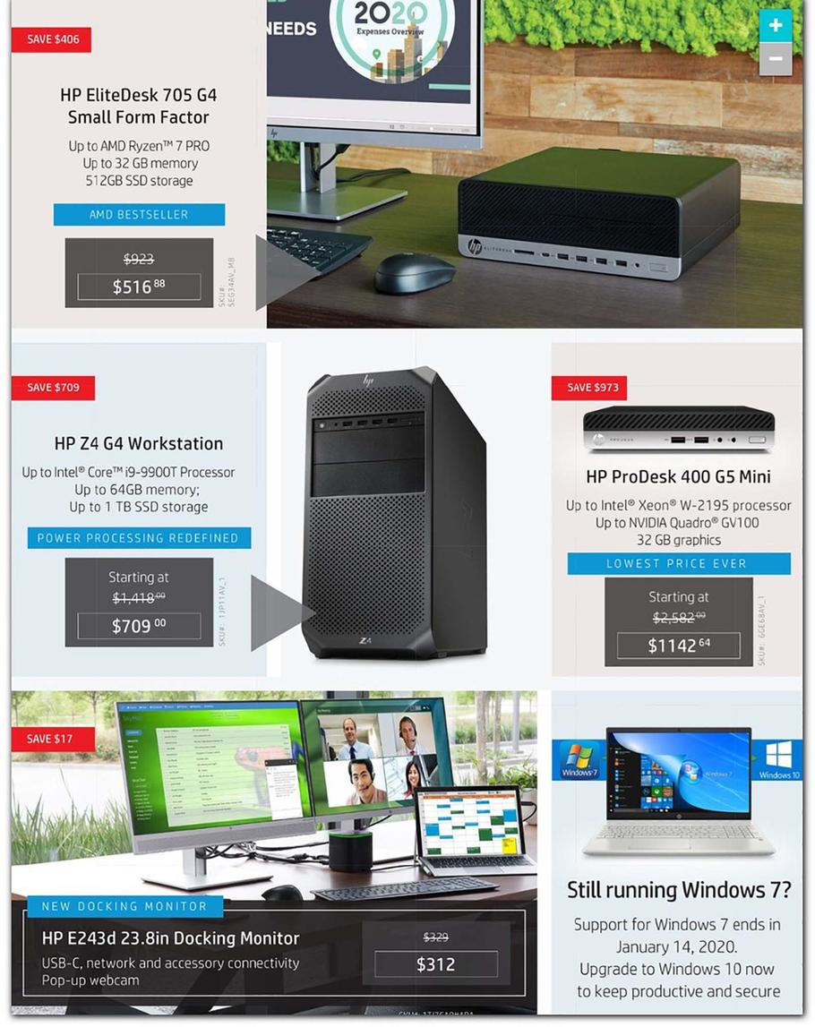 HP Home & Home Office Cyber Monday Ad Scan 2019