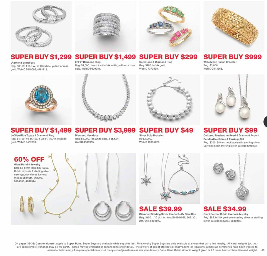 Macy S Black Friday Ad Scan Deals And Sales 2019 Page 66 Of 80 101blackfriday Com