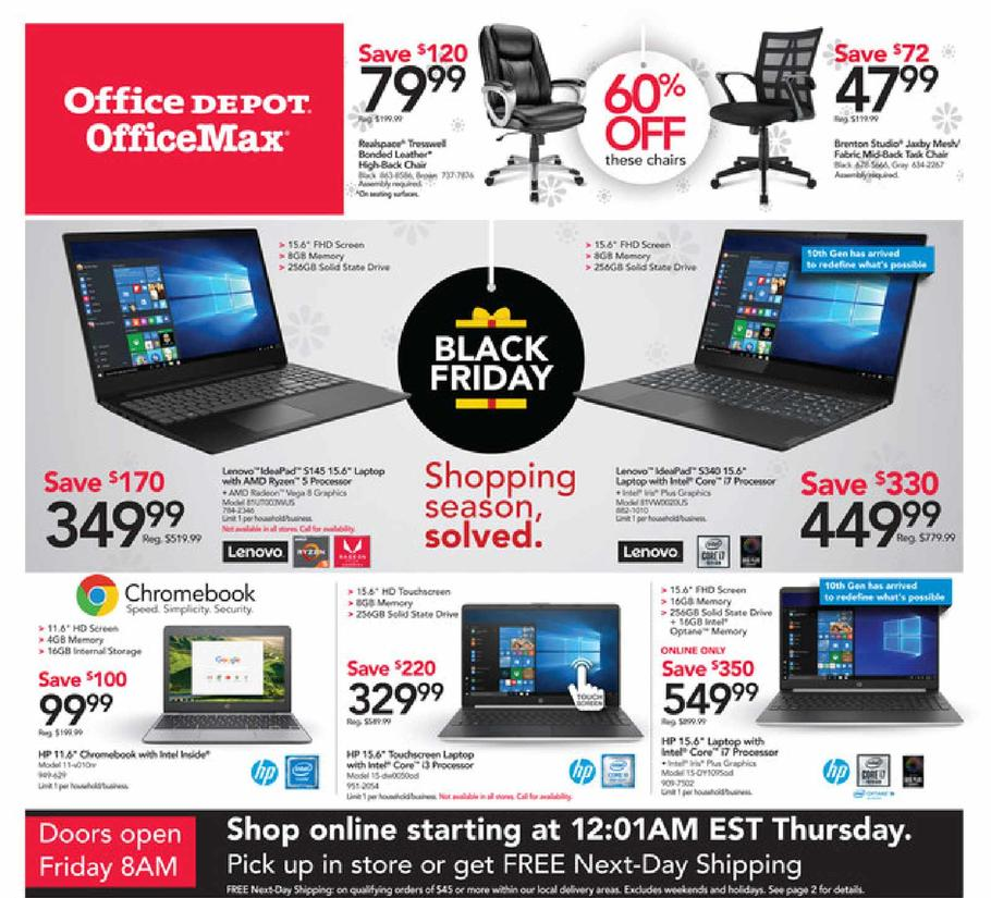 Office Depot and Office Max Black Friday Ad Scan 2019