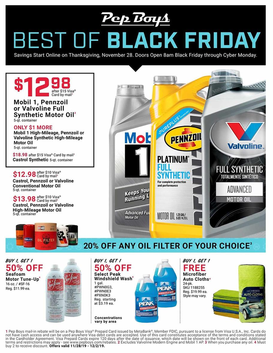 Pep Boys Black Friday Ad Scan 2019