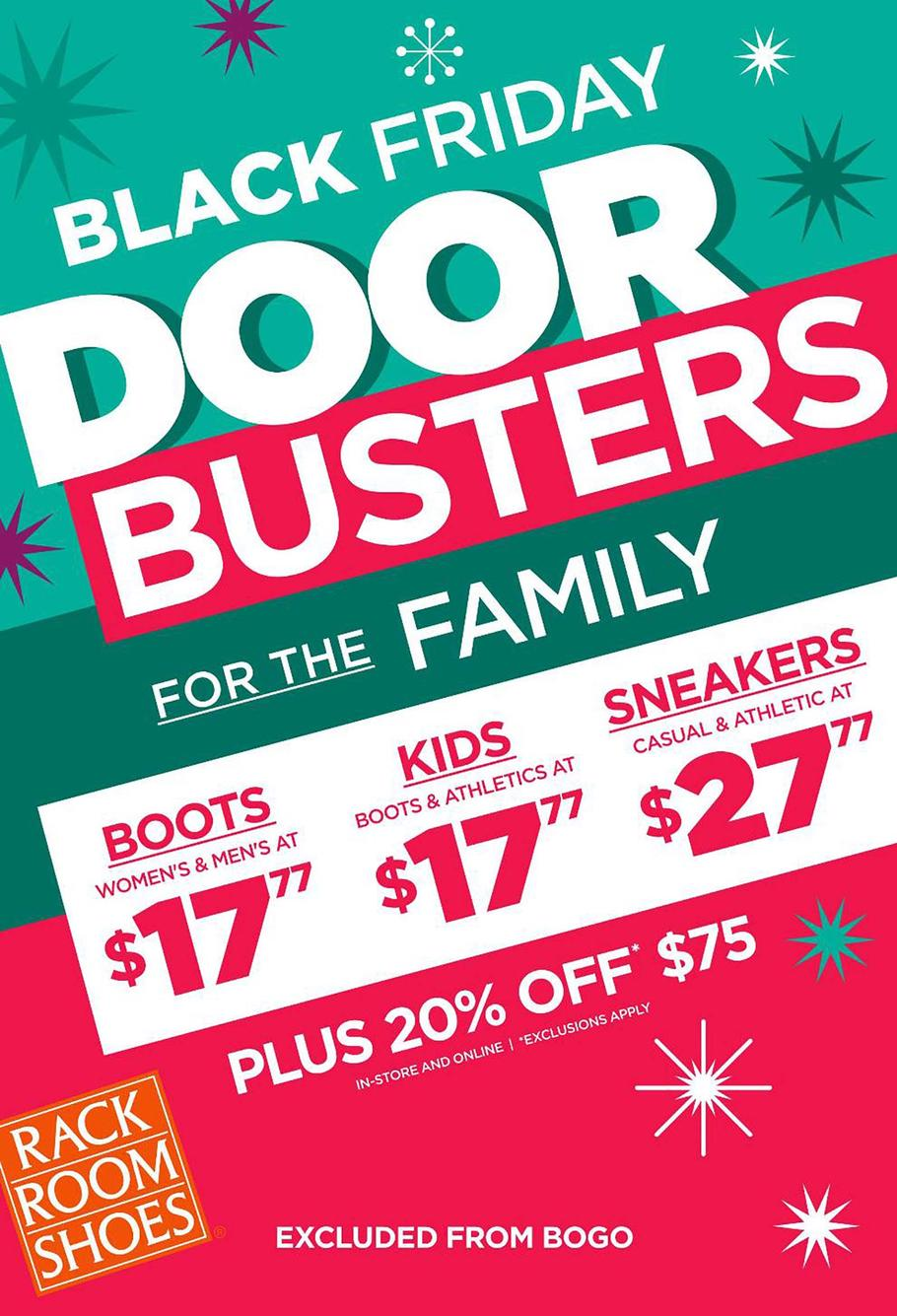 Rack Room Shoes Black Friday Ad Scan 2019