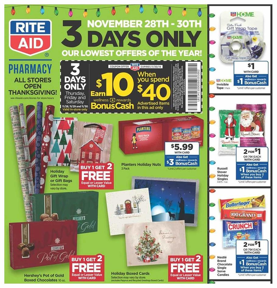Rite Aid Black Friday Ad Scan, Deals And Sales 2019
