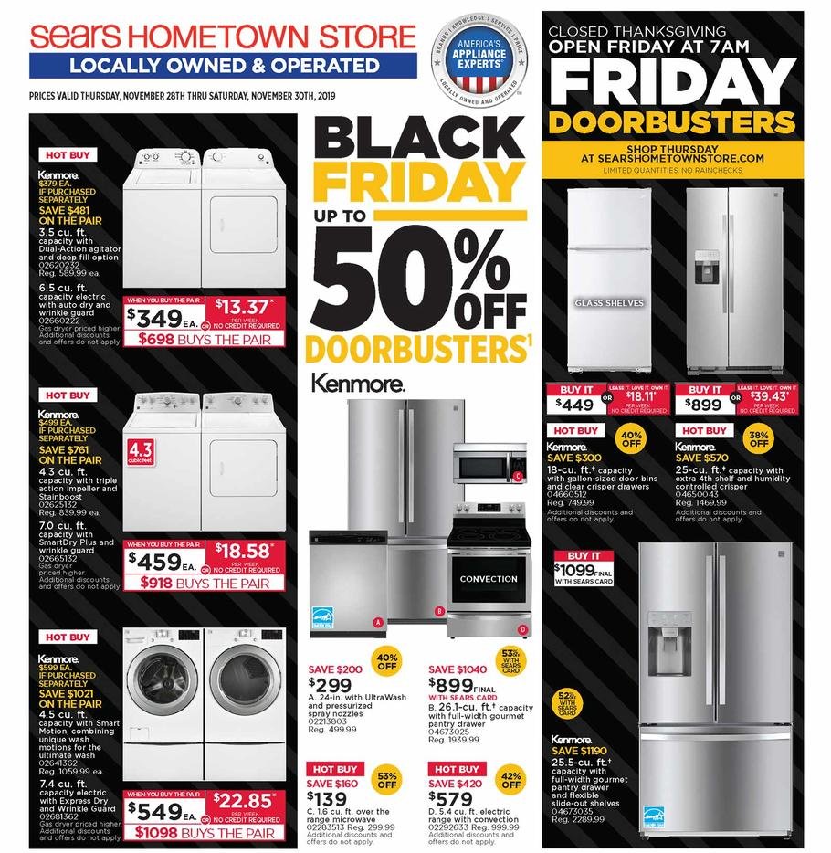 Sears Hometown Black Friday Ad Scan Deals And Sales 2019 101blackfriday Com