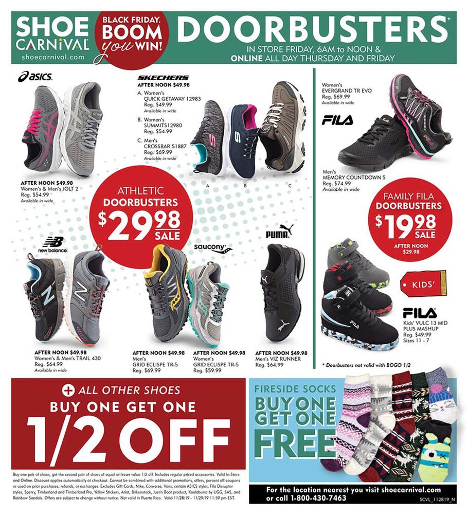 Shoe Carnival Black Friday Ad Scan 2019
