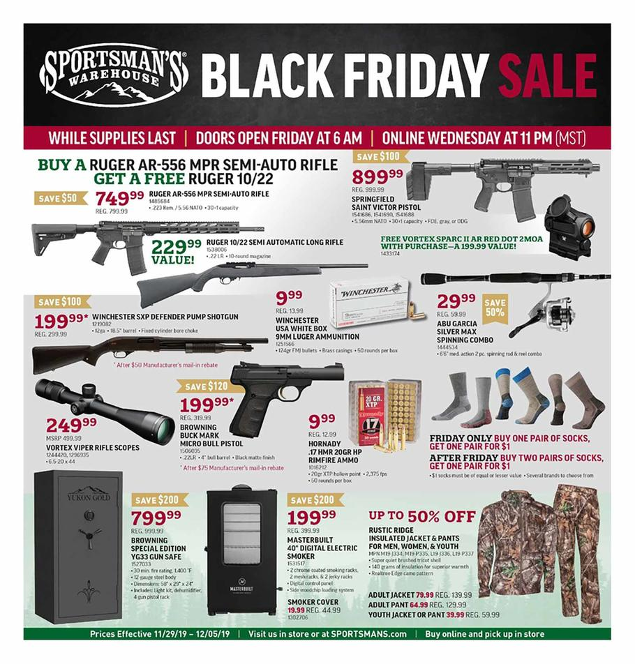 Sportsman's Warehouse Black Friday Ad Scan 2019