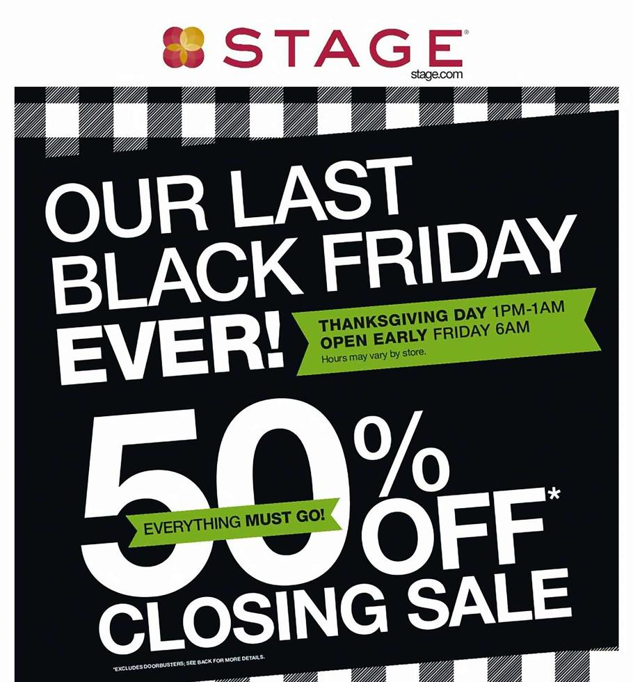 Stage Stores Black Friday Ad Scan 2019