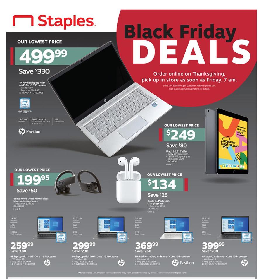 Staples Black Friday Ad Scan 2019
