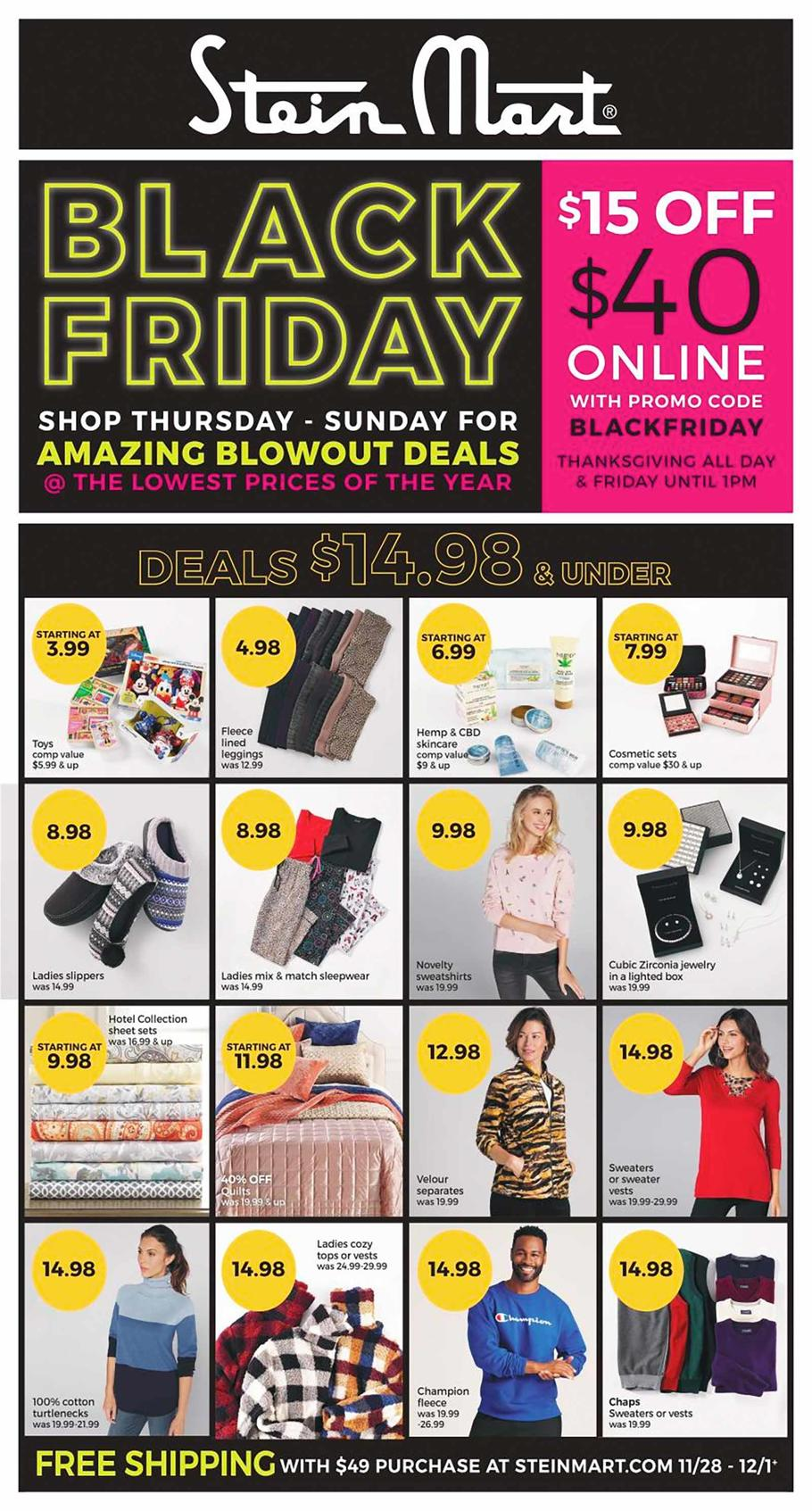 Stein Mart Black Friday Ad Scan 2019