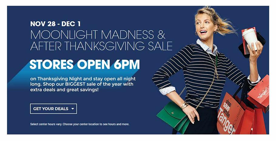 Tanger Outlets Black Friday Ad Scan 2019