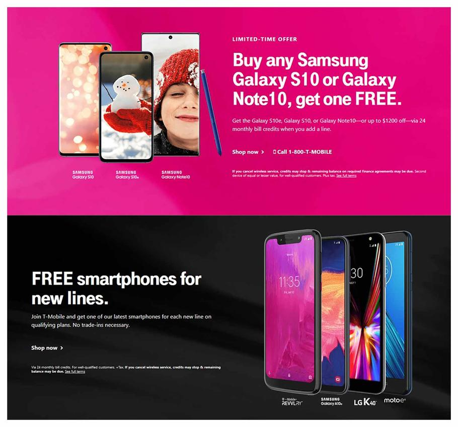 T-Mobile Black Friday Ad Scan 2019