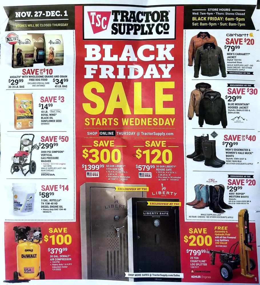 Tractor Supply Black Friday Ad Scan 2019