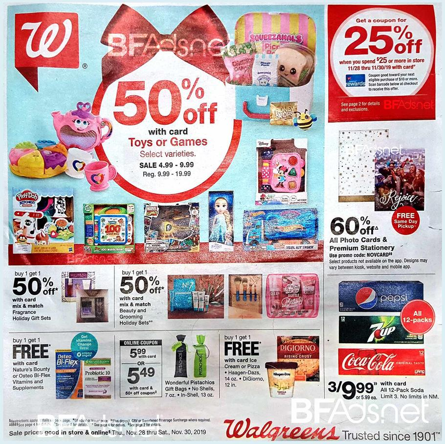 Walgreens Black Friday Ad Scan 2019